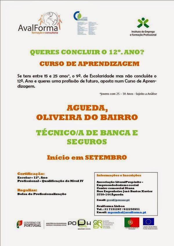 Curso financiado de Banca e Seguros com equivalência ao 12o ano de escolaridade – Águeda e Oliveira do Bairro