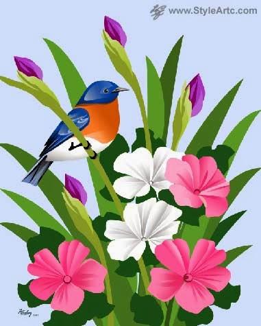 bluebird art