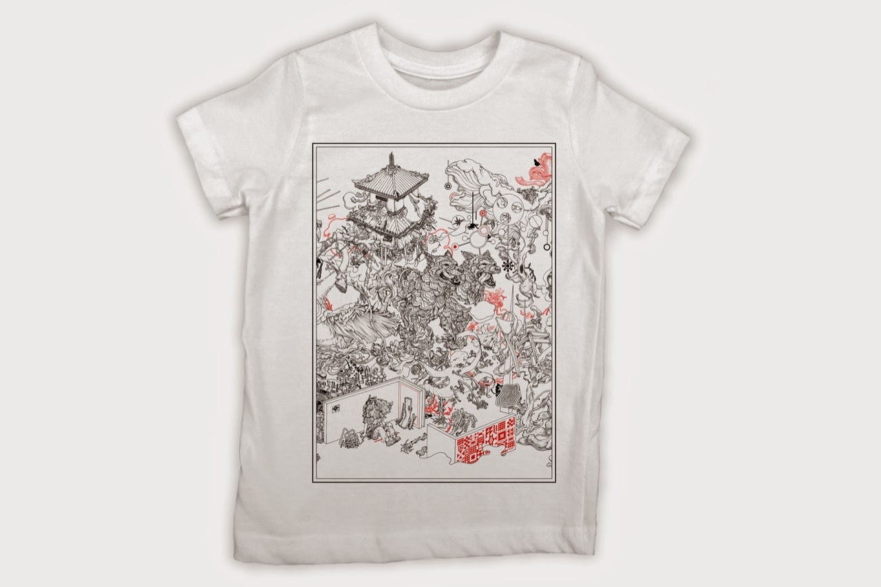 For the holiday's, our friends at Big Bad Wolf teamed up with world-renowned artist James Jean to create a new apparel tee for our precious tiny street art fans.
