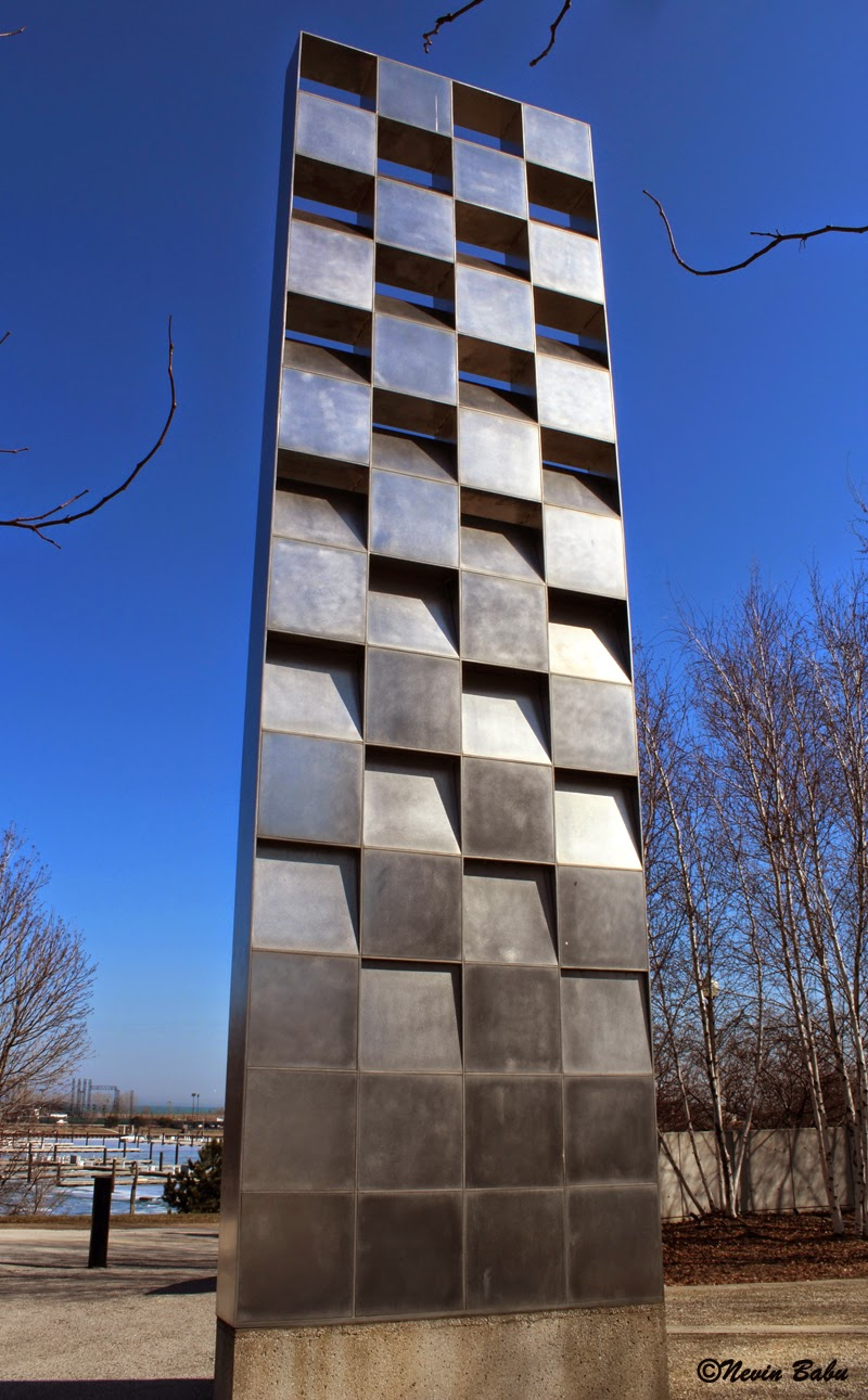 Towering Pylon At Chicago Gold Star Families Memorial Park