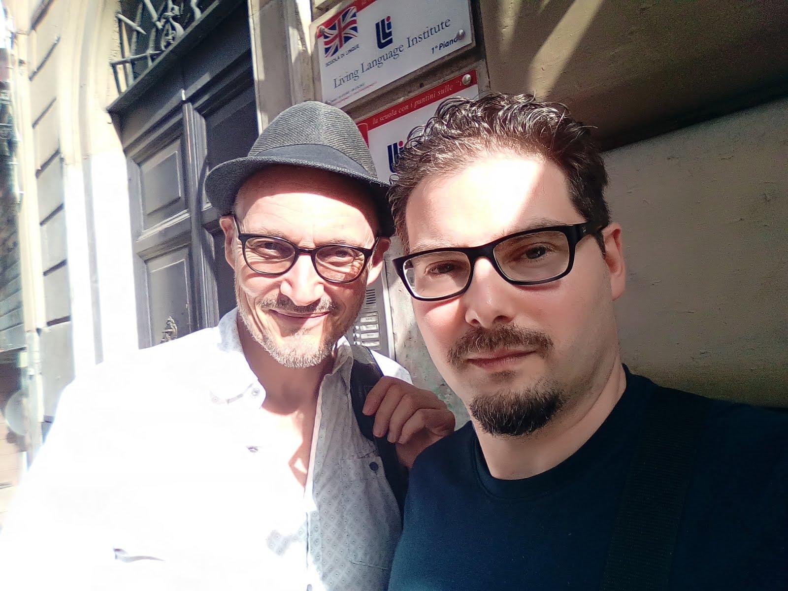 Luca Bagatin con il regista e attore canadese Denis Lavalou (giugno 2019)