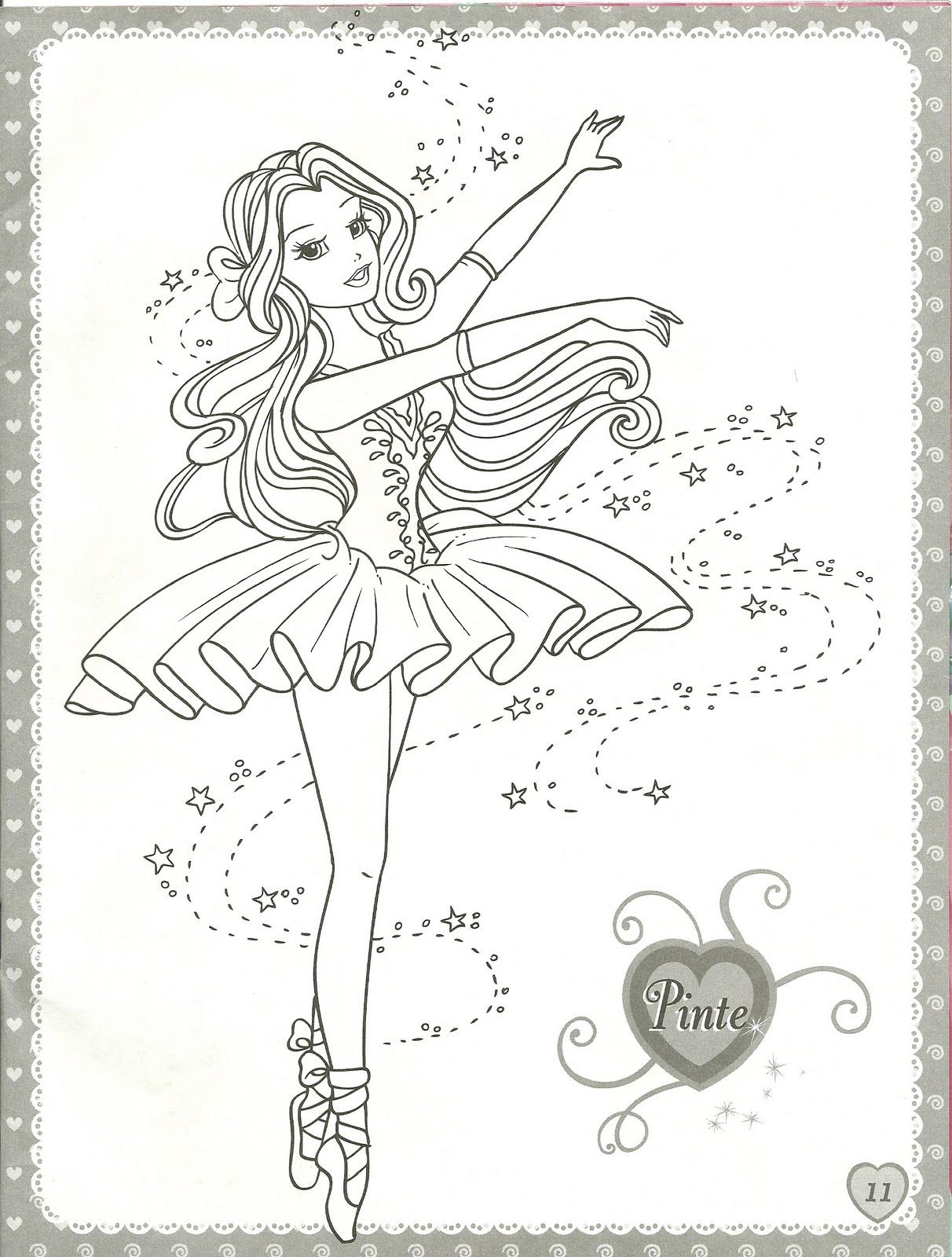 Lujoso Para Colorear Barbie Ballerina Regalo - Ideas Para Colorear ...