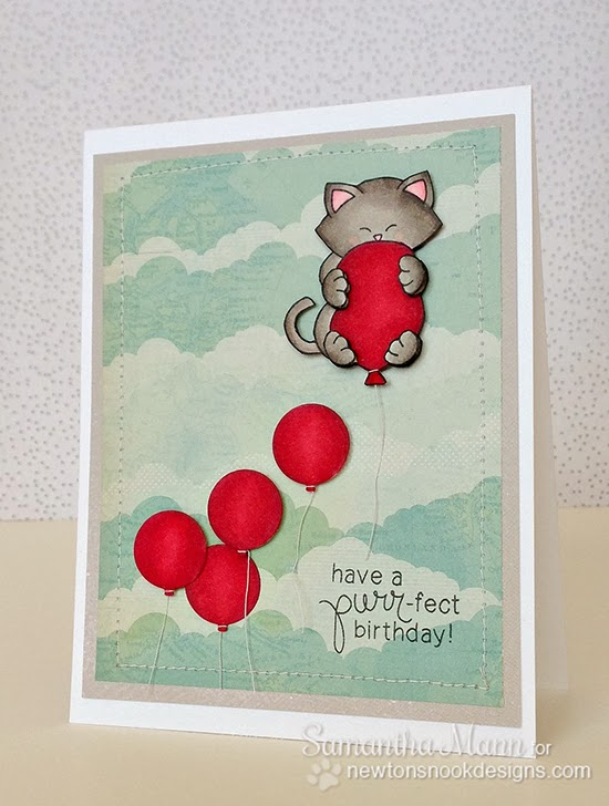 Newton's Birthday Bash Cat Card by Samantha Mann for Newton's Nook Designs