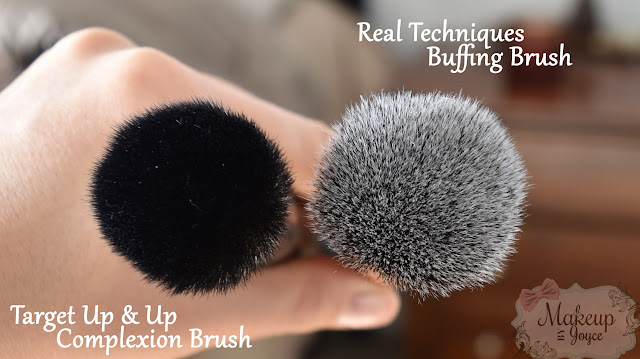 Target Up and Up Complexion Brush vs Real Techniques Buffing Brush Review