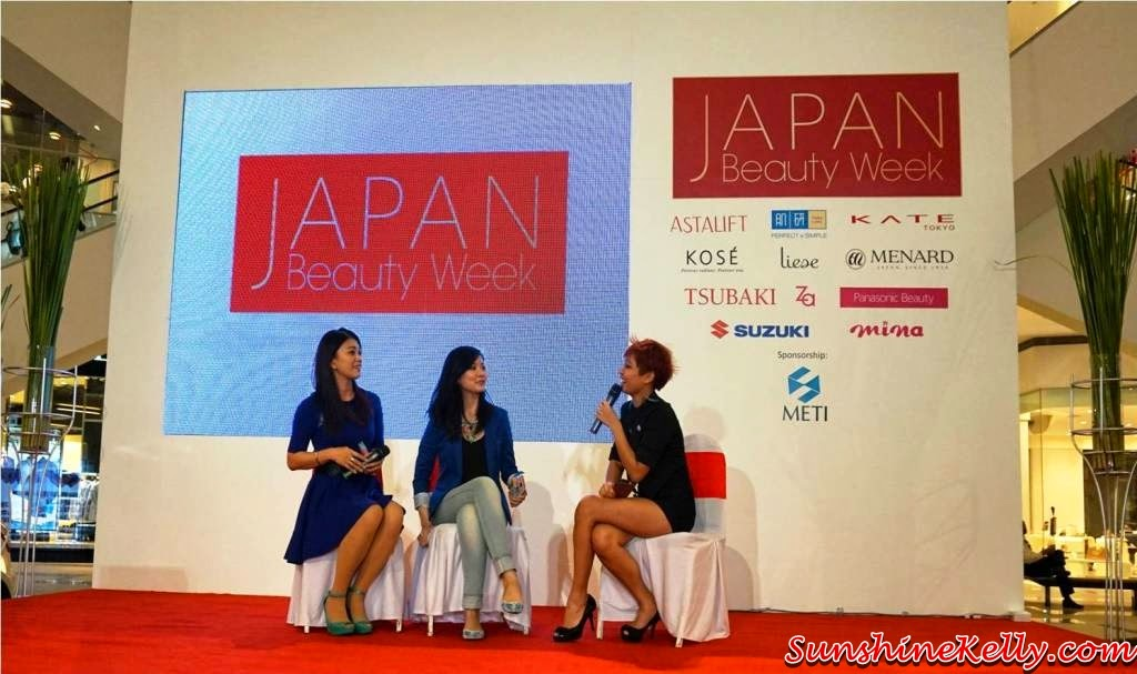 Japan Beauty Week, on stage sharing, presentation, demo, sunshine kelly, beauty tips, beauty blogger, suzuki swift