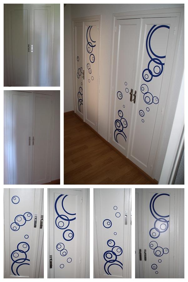 La neurona del manitas decorar armario con vinilo - Decorar cristales de puertas ...