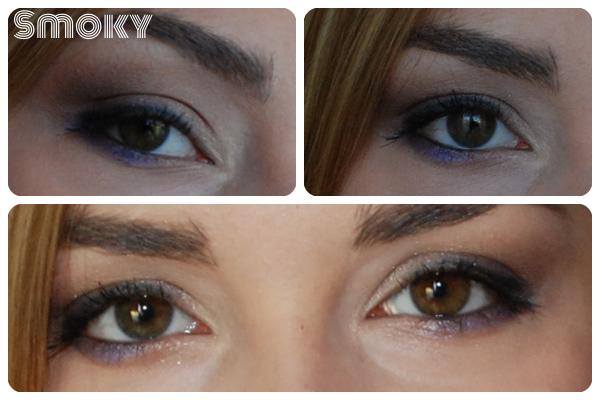 makijaż smoky brąz fiolet