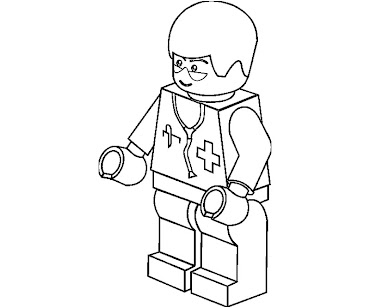 #5 Lego Coloring Page