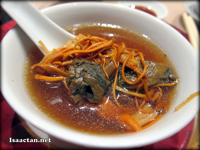 #2 Double Boiled Cordyceps Flower with Dried Scallops and Black Chicken Soup