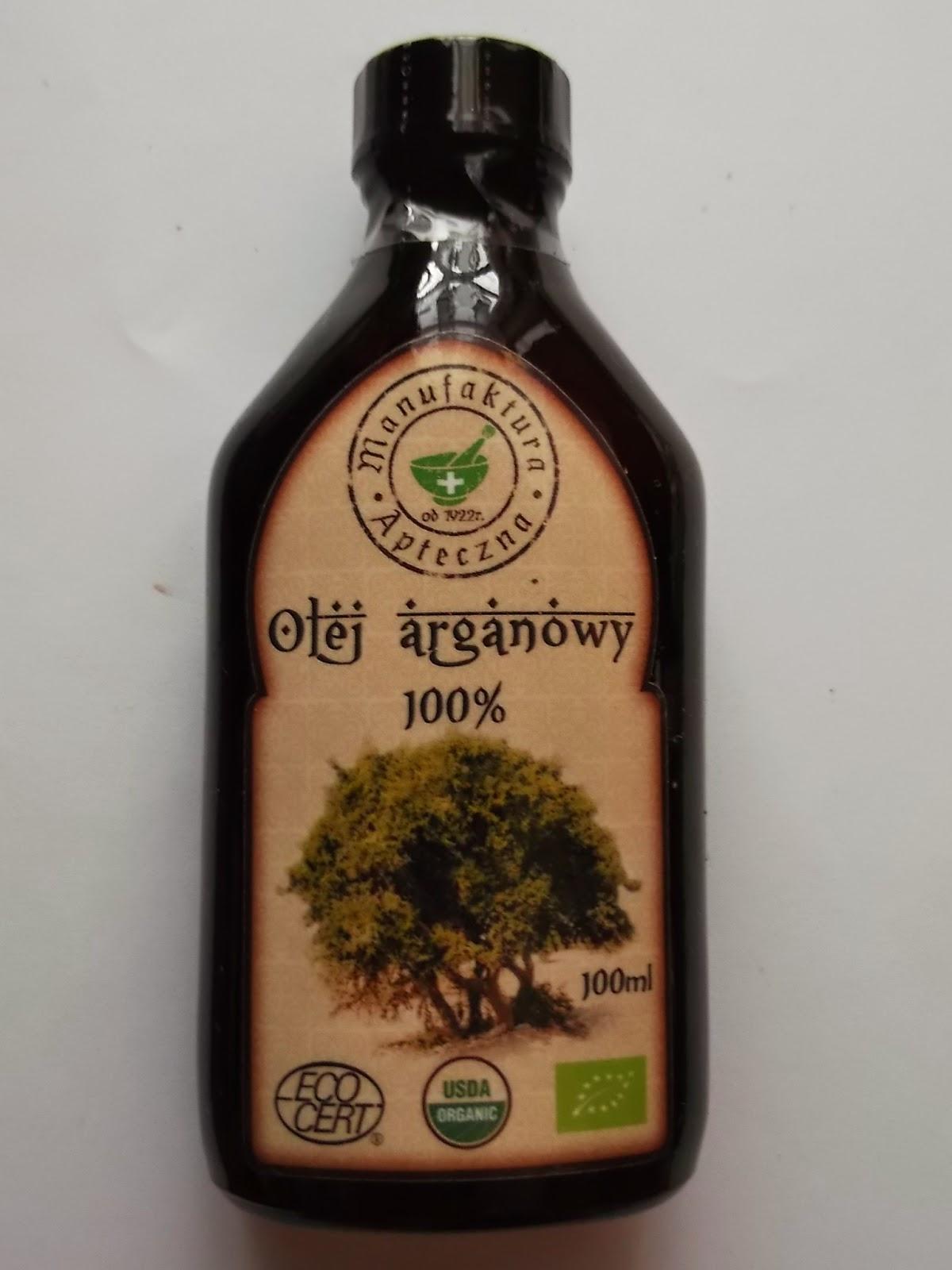 Niezbędna rzecz w mojej kosmetyczce: Olej Arganowy Manufaktury Aptecznej :)