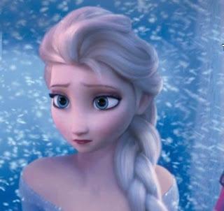 Elsa Frozen patah hati sedih