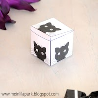 printable kitty cat favor box