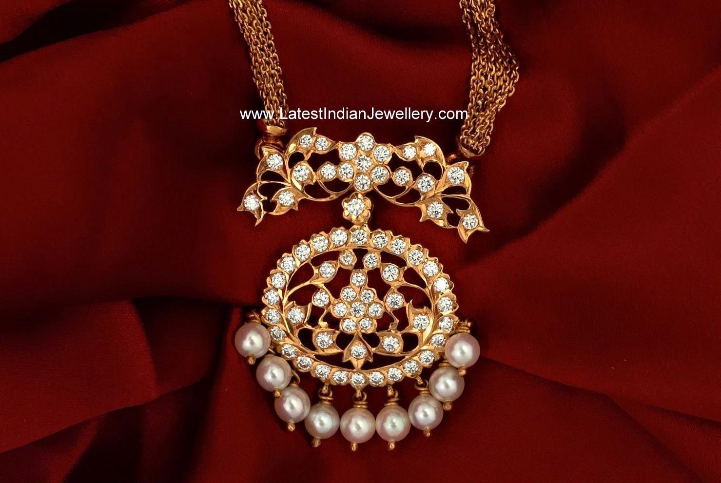 South Indian Diamond Pendant
