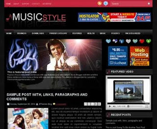 Music Style Blogger Template