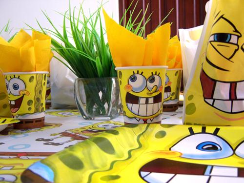 Fiestas infantiles con Bob Esponja - Decoracion de