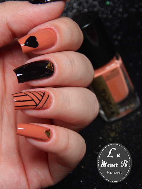 coração nail art