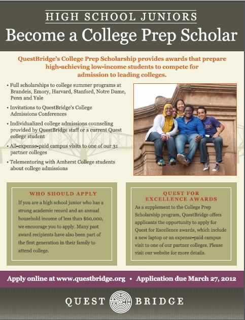 questbridge college prep scholarship