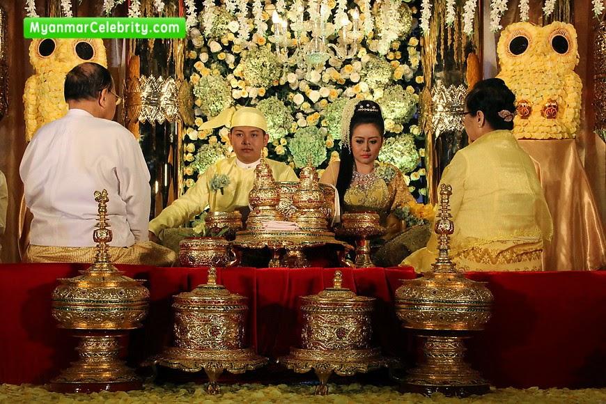 Here Are Snapshots Of Myanmar Traditional Wedding Ceremony Model Actress Mya Hnin Yee Lwin And Mg Myo Thwin Was Held On 27th December 2014 At Sedona
