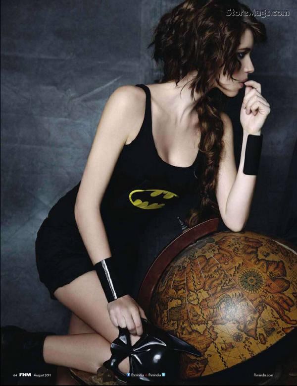 Kalki Koechlin Bat Woman In FHM Magazine