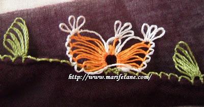 kelebek iğne oyası