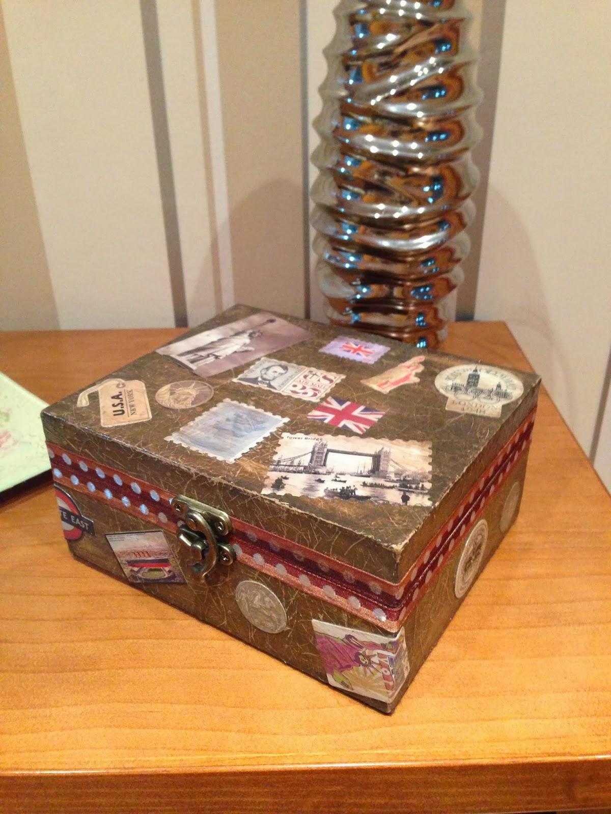 Cajas madera decoradas caja de madera decorada cargando - Cajas de vino de madera decoradas ...