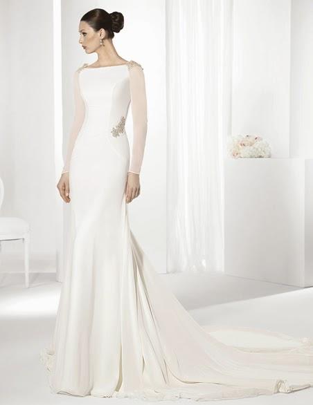 las bodas de raquel: 10 vestidos de novia de manga larga 2015