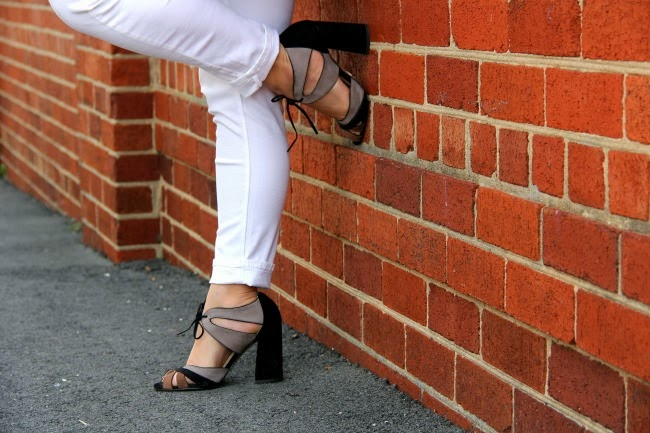 White Pants from Zara, Ferrucci Shoes from Brazil
