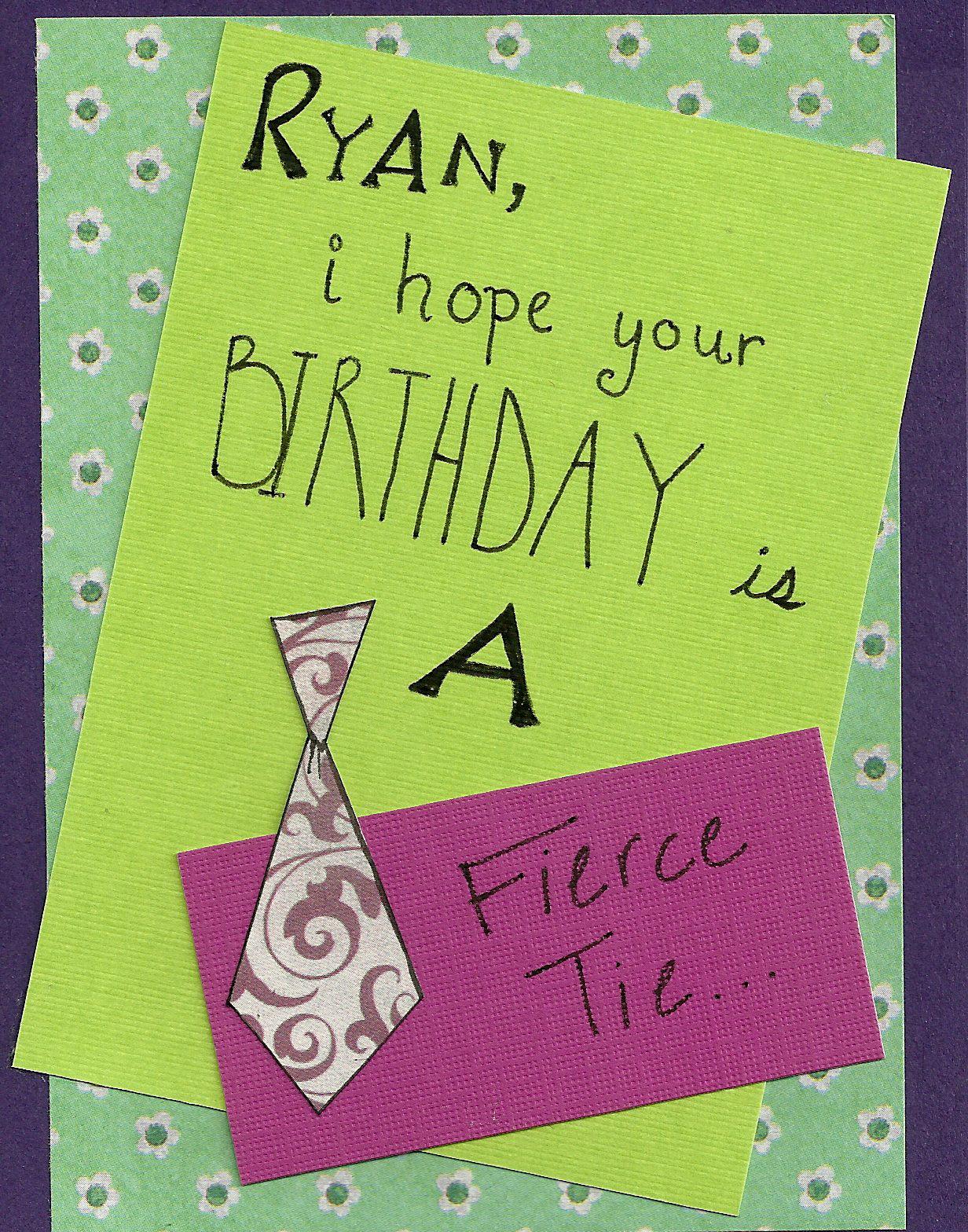 Debbie Dots Greeting Card Blog Tie Metaphor Birthday