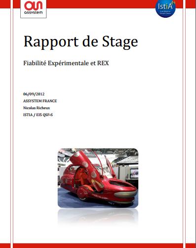 Rapport de Stage Fiabilité Expérimentale et REX - RapportDeStage