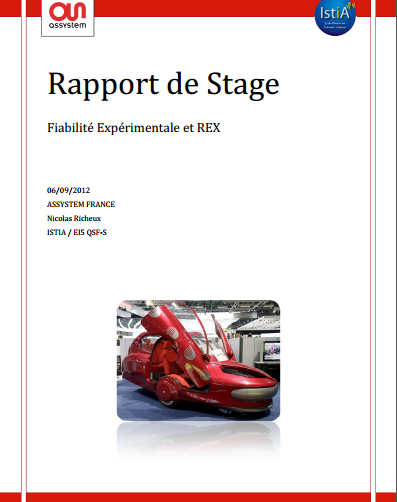 rapport de stage fiabilit u00e9 exp u00e9rimentale et rex