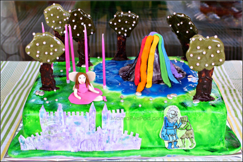 rainbow magic fairies birthday cake