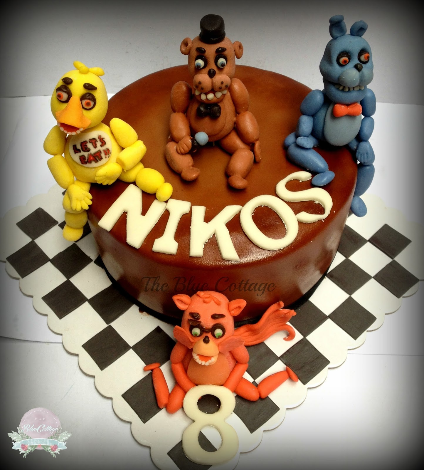 The Blue Cottage Birthday Cake Five Nights At Freddy S