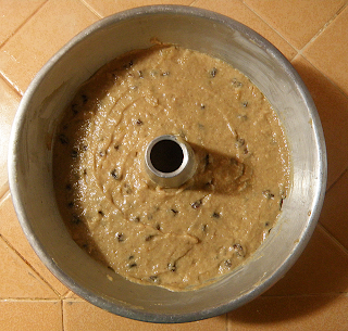 Applesauce Cake Batter in Tube Pan