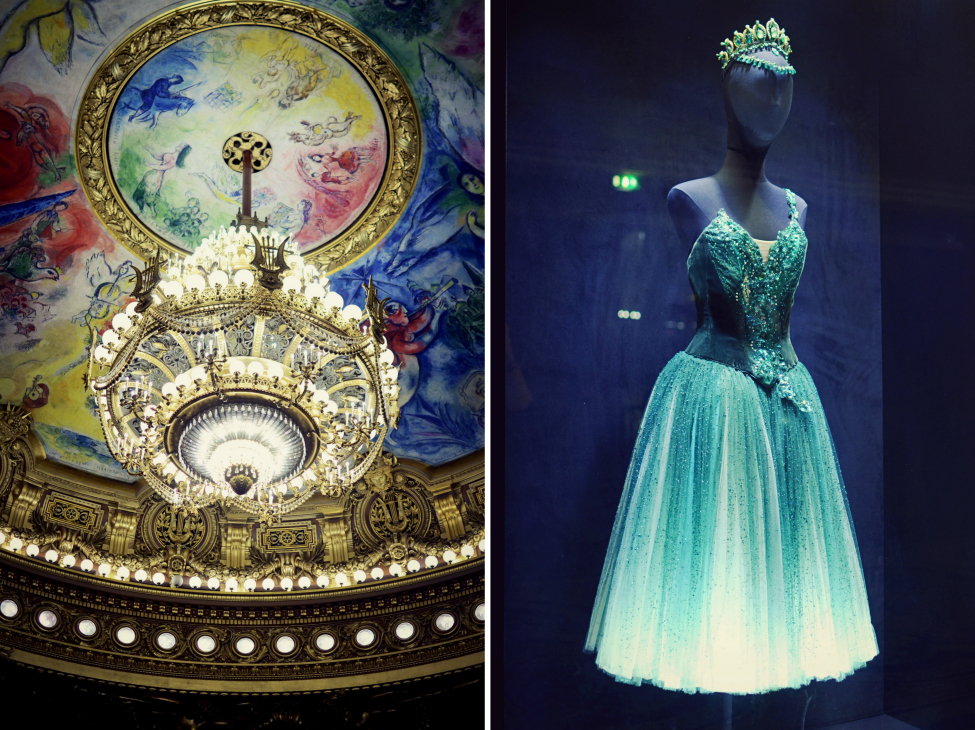 costumes and decoration at the opera garnier in paris