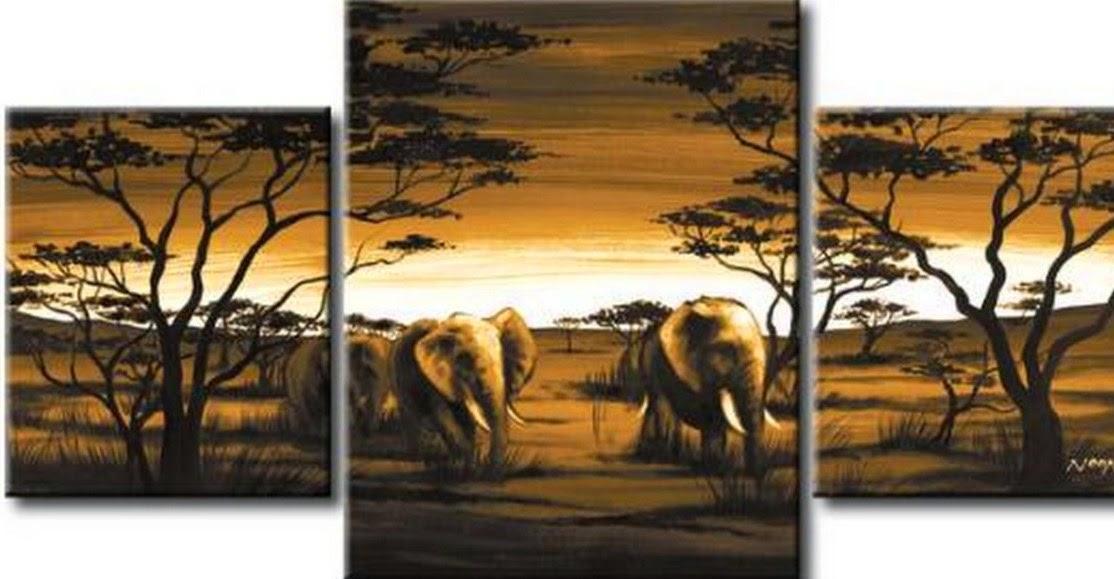 tripticos-al-oleo-paisajes-africanos-modernos
