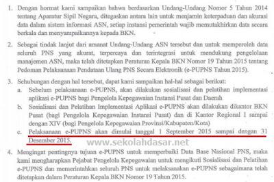 Jadwal Pelaksanaan e-PUPNS Tahun 2015