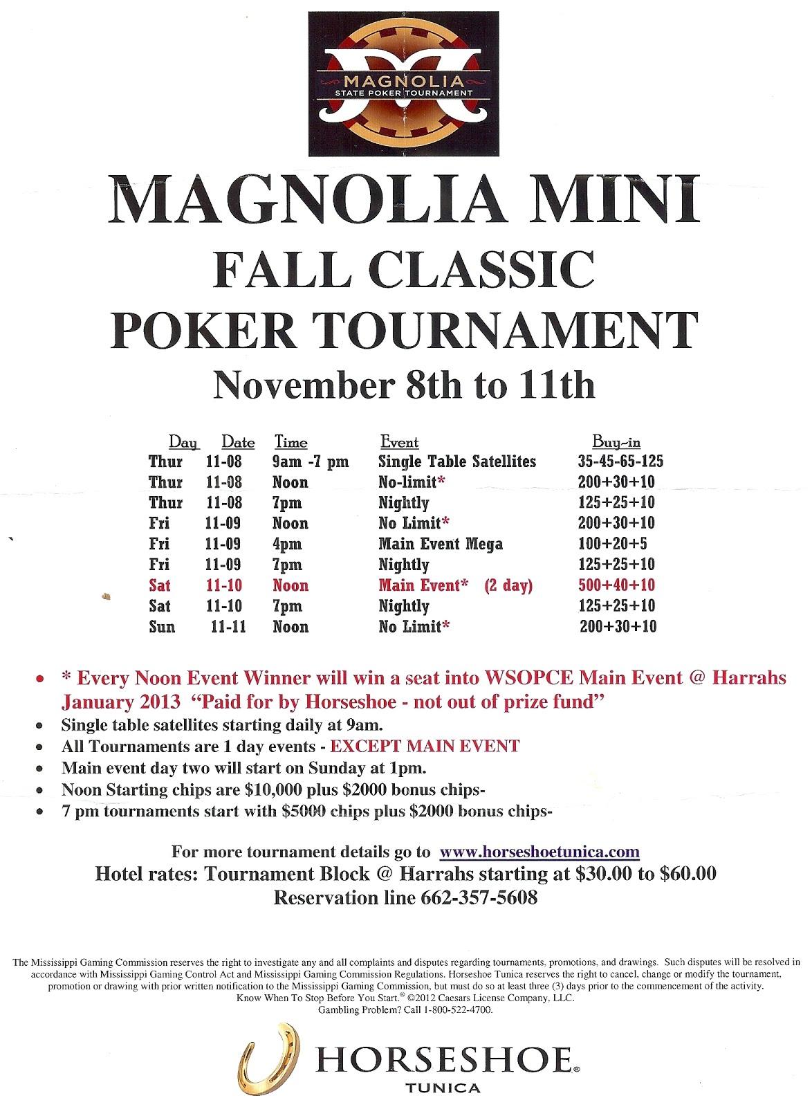 Poker tunica tournament