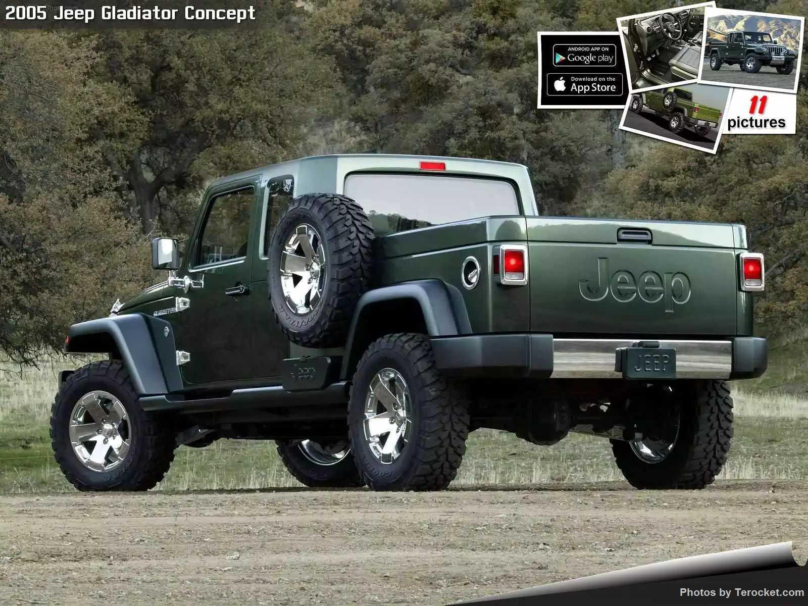Hình ảnh xe ô tô Jeep Gladiator Concept 2005 & nội ngoại thất