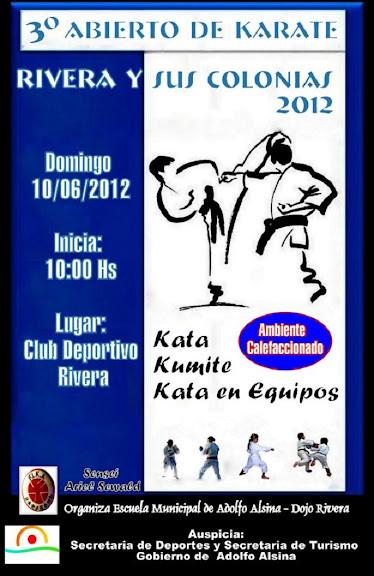 3º ABIERTO DE KARATE COPA RIVERA Y SUS COLONIAS (RIVERA  10/06/2012)
