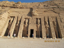 "Facade of ""Little Temple"" of Goddess Hathor and Queen Nefertari, Abu Simbel, Egypt"
