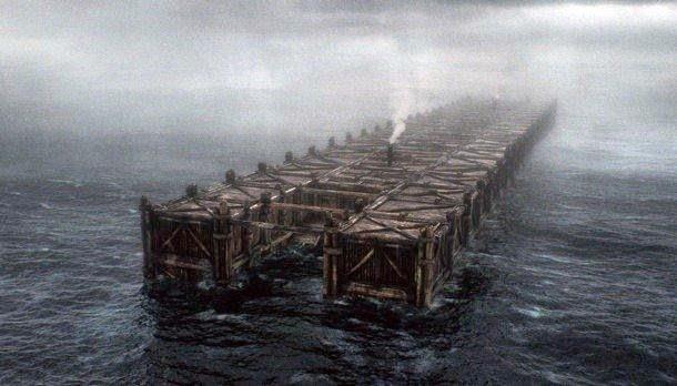 Bahtera di tengah gelombang banjir besar