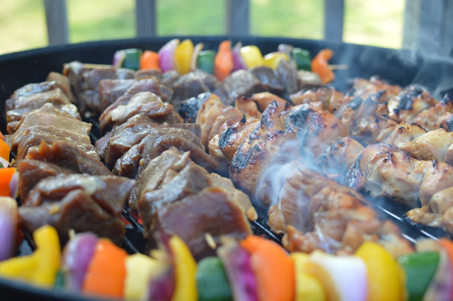 meat on skewers - Impromptu BBQ - The City Dweller