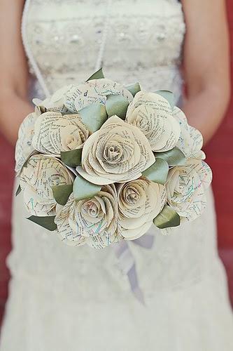 Memorable Wedding Paper Flower Wedding Bouquet