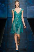 Коктейлна рокля от прозрачно и дантела на Alberta Ferretti