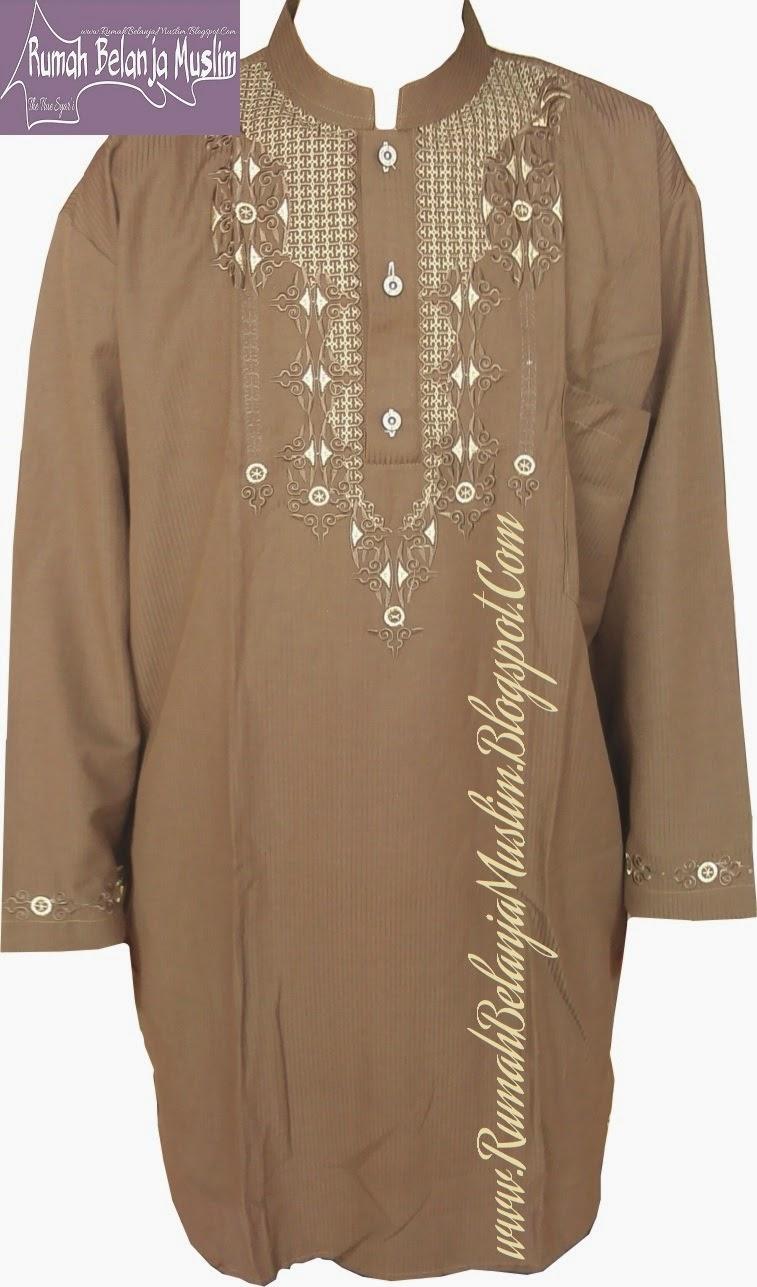 Baju Koko Pakistan Coklat Muda