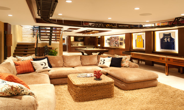 Basement Decorating Tips Model Home Interiors