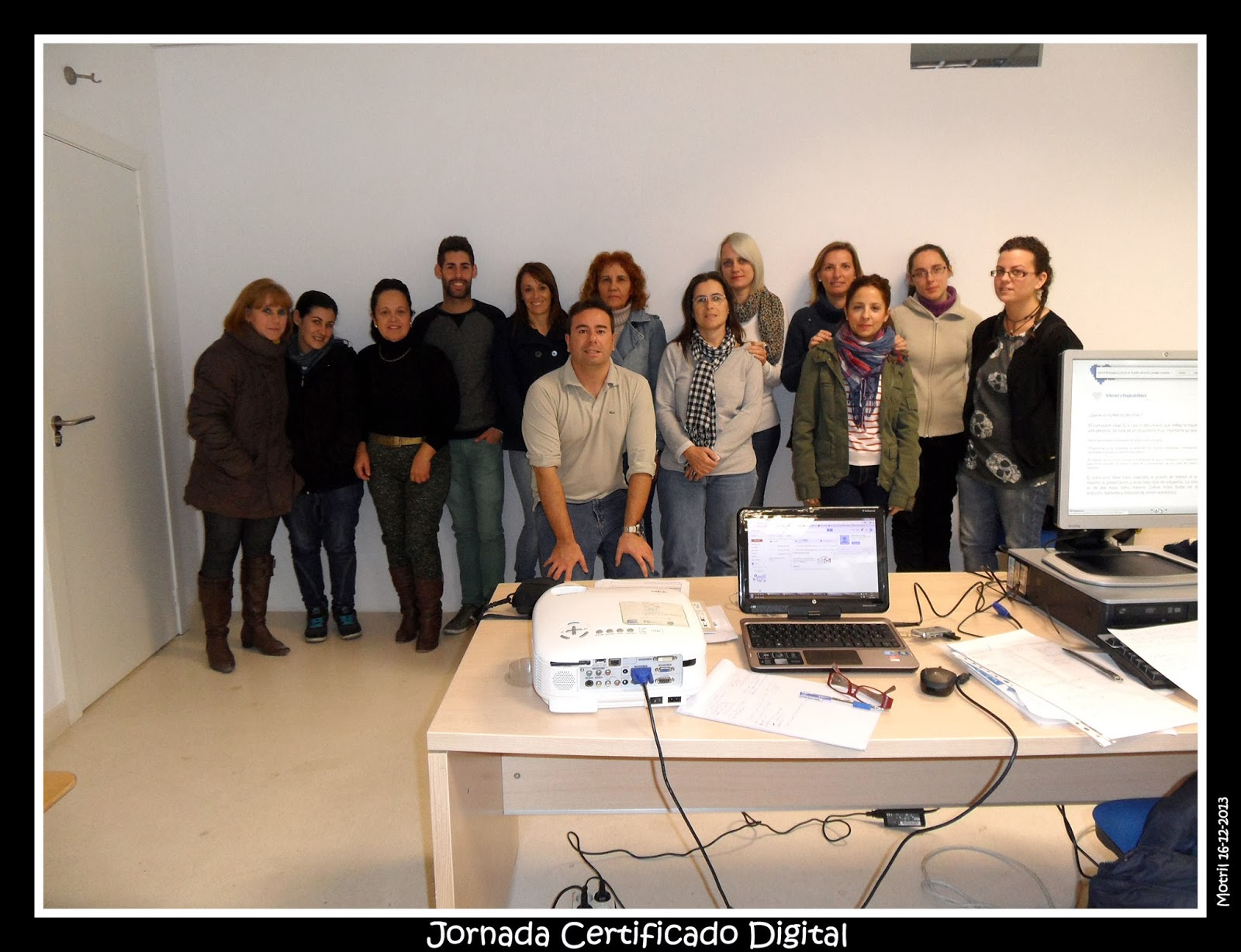 Foto de las jornadas sobre certificado digital tecnoinfe for Oficina certificado digital