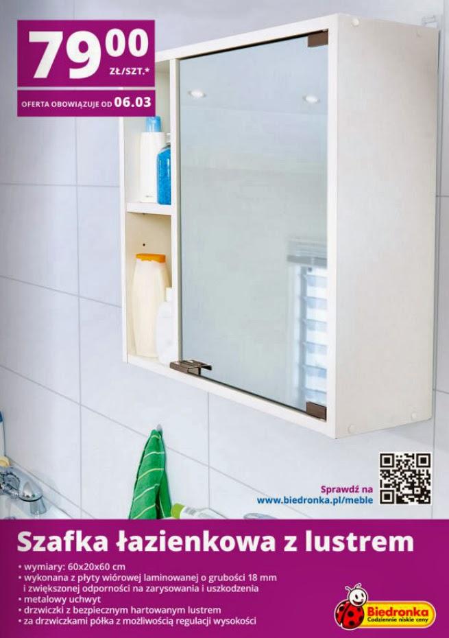Szafka łazienkowa z lustrem z Biedronki ulotka