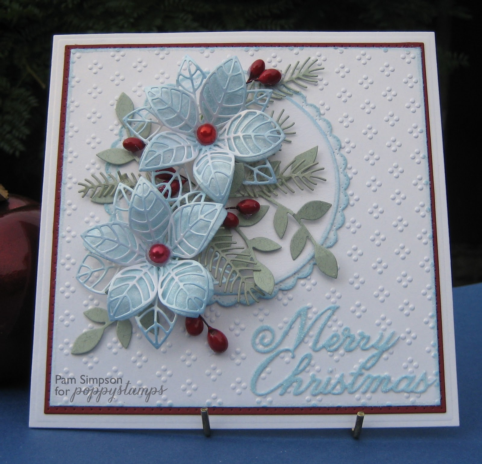 Pamscrafts Blue Poinsettias