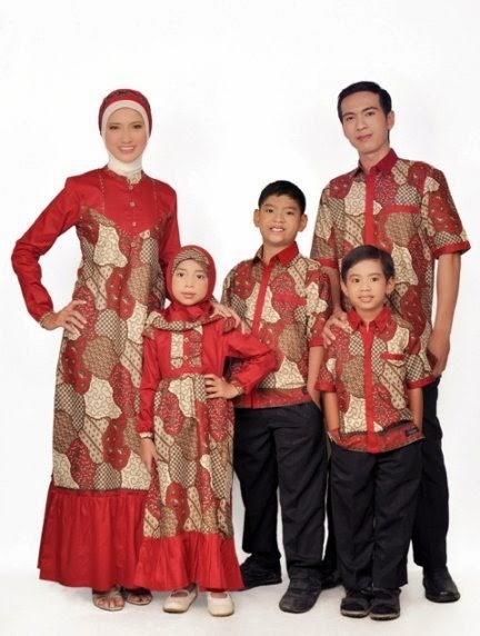Model baju batik muslim sarimbit keluarga unik